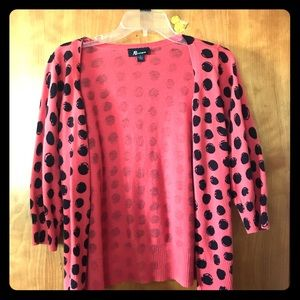 Spotted cardigan, size L